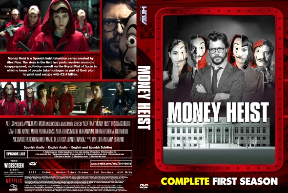 Money Heist (La casa de papel) Season 1 Episodes in  Tamil Telugu Hindi Eng (DD+5.1 640Kbps) 1080p WEB-DL
