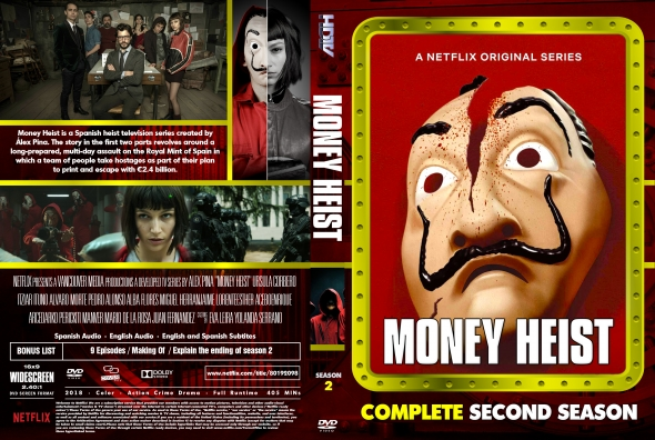 Money Heist Season 2 Episodes in Tamil Telugu Hindi Eng (DD+5.1 640Kbps) 1080p WEB-DL