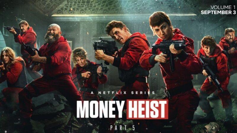 Money Heist Season 5 Vol.1 Episodes in Tamil Telugu Hindi Eng (DD+5.1 ATMOS 768Kbps) 1080p WEB-DL